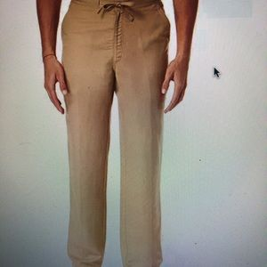 """Cubavera men's drawstring linen pants 1XB 30""""L"""